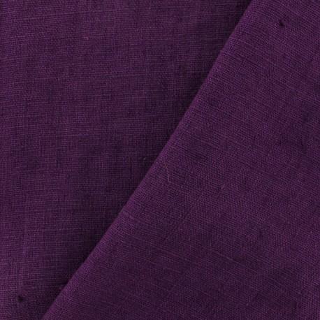 Tissu lin lavé Thevenon - prune x 10cm