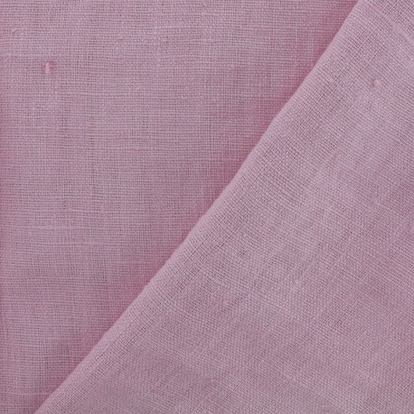 Thevenon washed Linen Fabric - nectar pink x 10cm