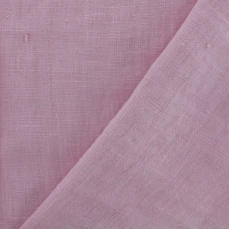 Tissu lin lavé Thevenon - rose nectar x 10cm