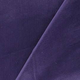 Fabric velours milleraies 200gr/ml encre violette x10cm
