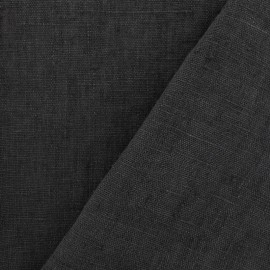 Thevenon washed Linen Fabric - fusain x 10cm
