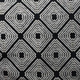 Tissu jacquard velours Lorenzaccio - noir x 10cm