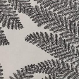 ♥ Coupon 20 cm X 170 cm ♥ Coated Cotton Wood - white/grey