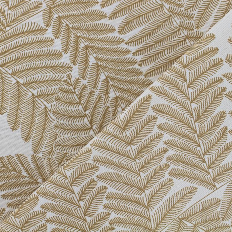 tissu enduit de coton maison thevenon wood jaune moutarde blanc. Black Bedroom Furniture Sets. Home Design Ideas