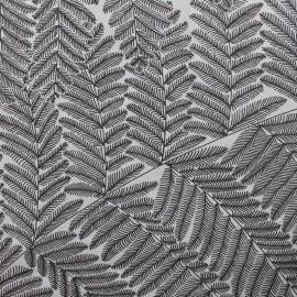 Tissu toile de coton grande largeur Wood - anthracite/blanc x 10cm