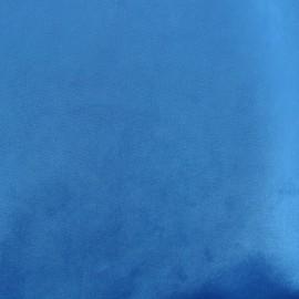 Tissu velours Brunei - bleu x 10cm