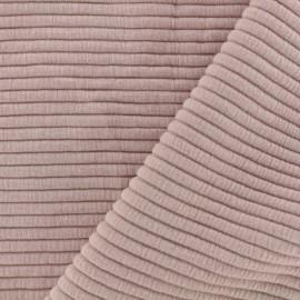 Tissu jersey maille Rayures uni - rose x 10cm