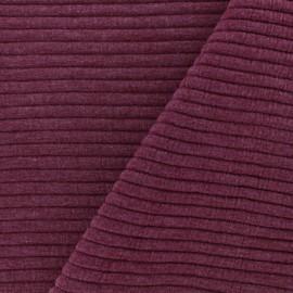 Tissu jersey maille Rayures uni - rouge x 10cm