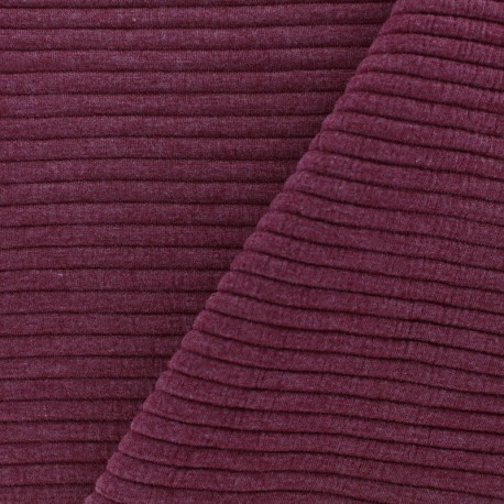 Jersey plain striped knitted fabric - red x 10cm
