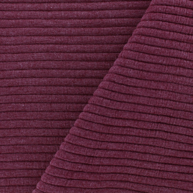 Clothing Fabrics Jersey Plain Striped Knitted Fabric Red