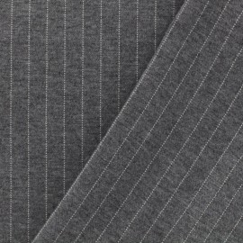 Striped Milano jersey fabric - light grey x 10cm