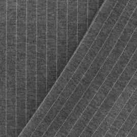 Tissu Jersey Milano rayures - gris clair x 10cm