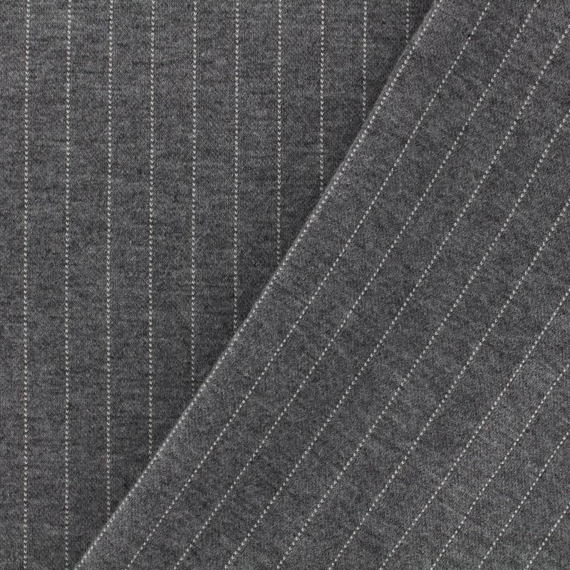 tissu d 39 habillement jersey milano rayures gris clair. Black Bedroom Furniture Sets. Home Design Ideas