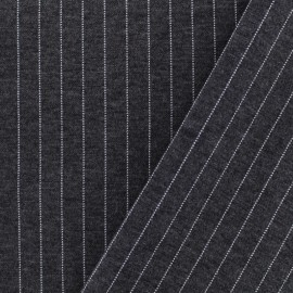 Striped Milano jersey fabric - dark grey x 10cm