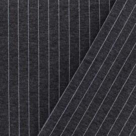 Tissu Jersey Milano rayures - gris foncé x 10cm