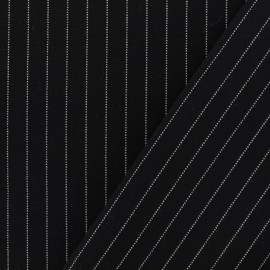 Striped Milano jersey fabric - black x 10cm