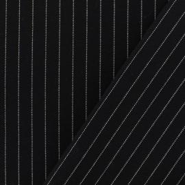 Tissu Jersey Milano rayures - noir x 10cm