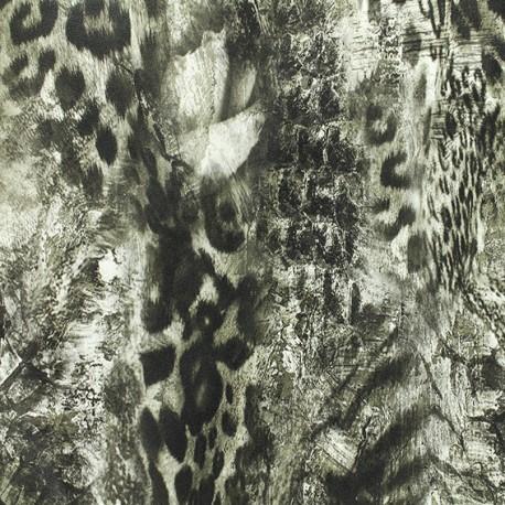 Leather Imitation Animal skin - grey x 10cm