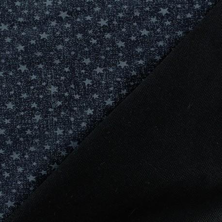 The blue night sky Jersey fabric - blue x 10cm