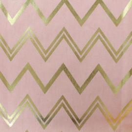 Cotton fabric B & B Fabrics Chevrons - pink/gold x 10cm