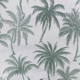 Tissu toile jacquard Palmera - amande x 25cm