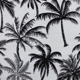 Jacquard Canvas Fabric Palmera - black x 25cm