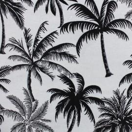 Tissu toile jacquard Palmera - noir x 25cm