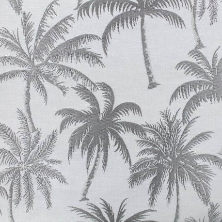 Jacquard Canvas Fabric Palmera - grey x 25cm