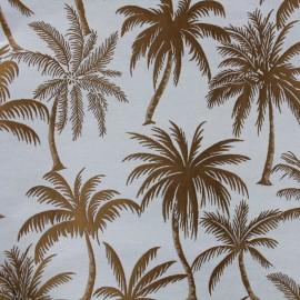 Tissu toile jacquard Palmera - brun x 25cm