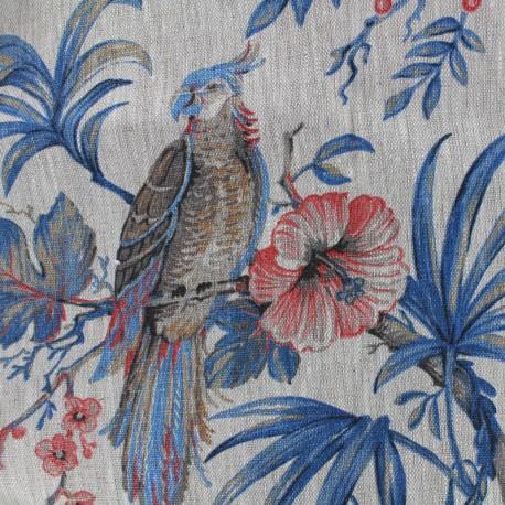 Bombay linen fabric - beige x 35cm