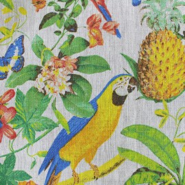 Tissu toile lin Amazone - beige x 35cm