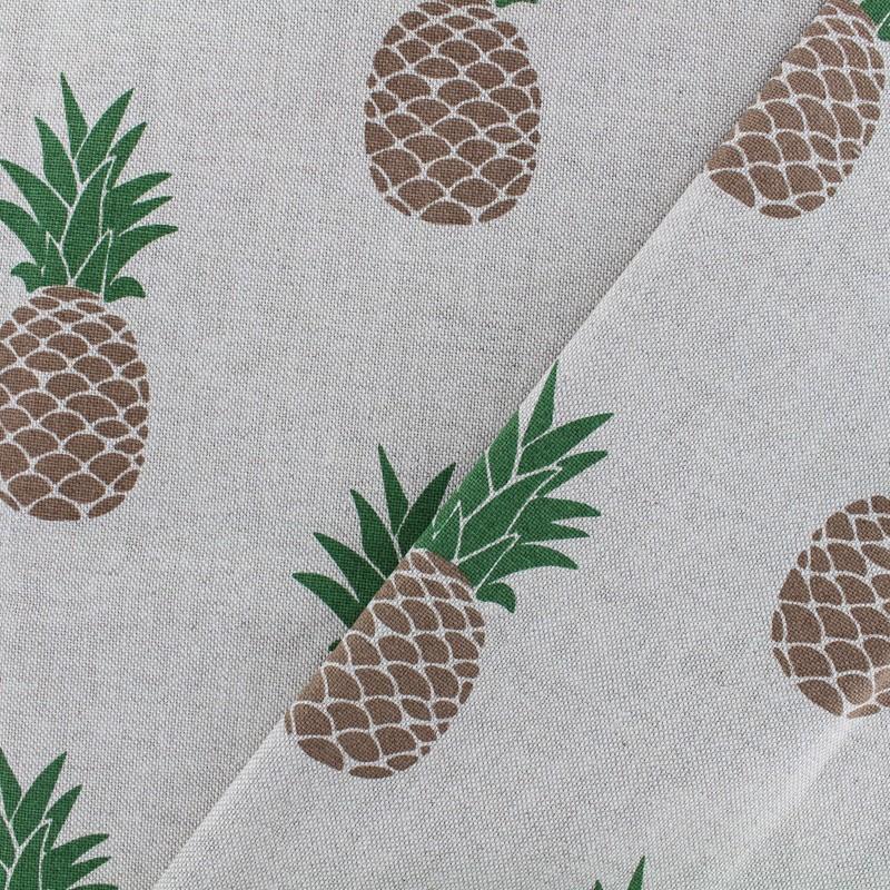 Tissu toile de coton ananas beige x 12cm - Toile de coton synonyme ...