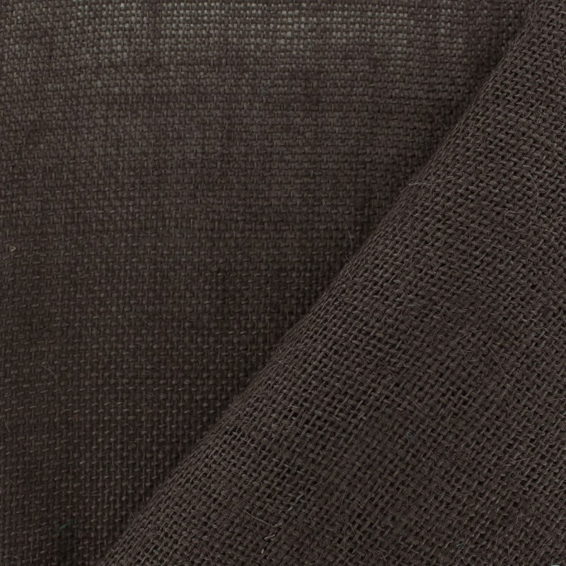 tissu toile de jute toile de jute colors chocolat mpm. Black Bedroom Furniture Sets. Home Design Ideas