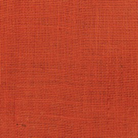 Colors Burlap canvas fabric - orange juice x 10cm