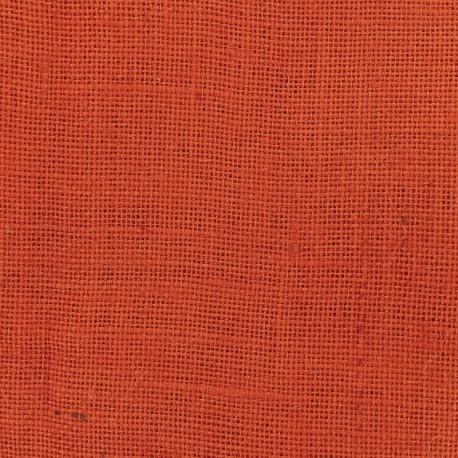 Colors Burlap canvas fabric - orange juice x 10cm