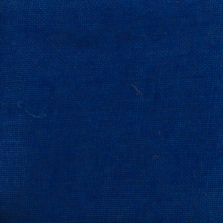 Colors Burlap canvas fabric - blue x 10cm