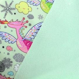 Tissu Softshell Dragonneau - vert clair x 20cm