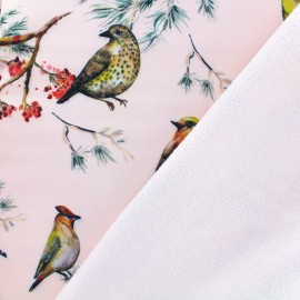Sparrow Nano-tex Water-repellent Softshell fabric – pink x 20cm