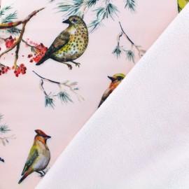 Tissu Softshell Sparrow - rose x 20cm