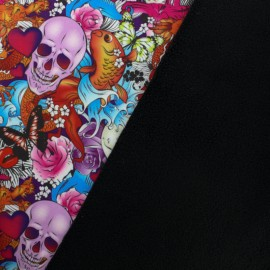 Tissu Softshell Glama - multi x 20cm
