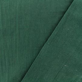 Tissu coton lavé - vert sapin x 10cm
