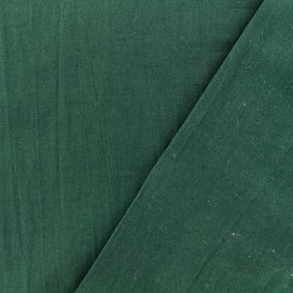 Washed cotton fabric - deep green x 10cm