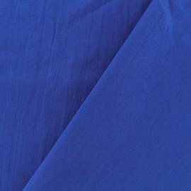 Tissu coton lavé - bleu roy x 10cm