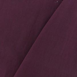 Tissu coton lavé - bordeaux x 10cm