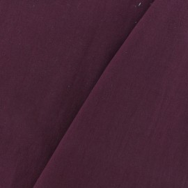 Washed cotton fabric - burgundy x 10cm