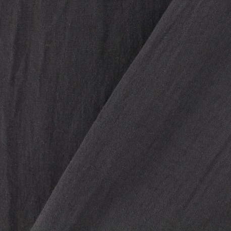 Tissu coton Lavé - chocolat x 10cm