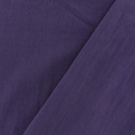 Washed cotton fabric - purple x 10cm