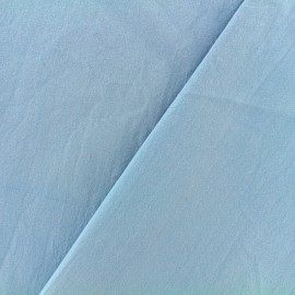 Washed cotton fabric - Niagara blue x 10cm