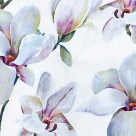 Tissu mousseline satinée Lys - blanc x 30cm