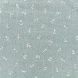 Anchor Double gauze fabric - rainy green x 10cm